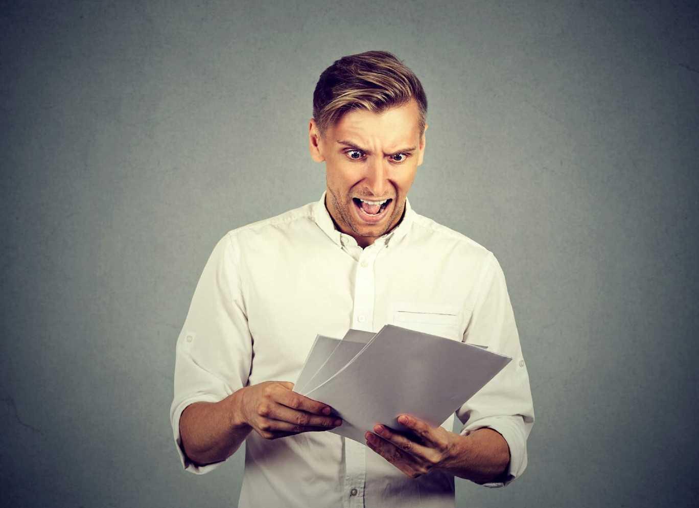 Man Suprised By Tax Return