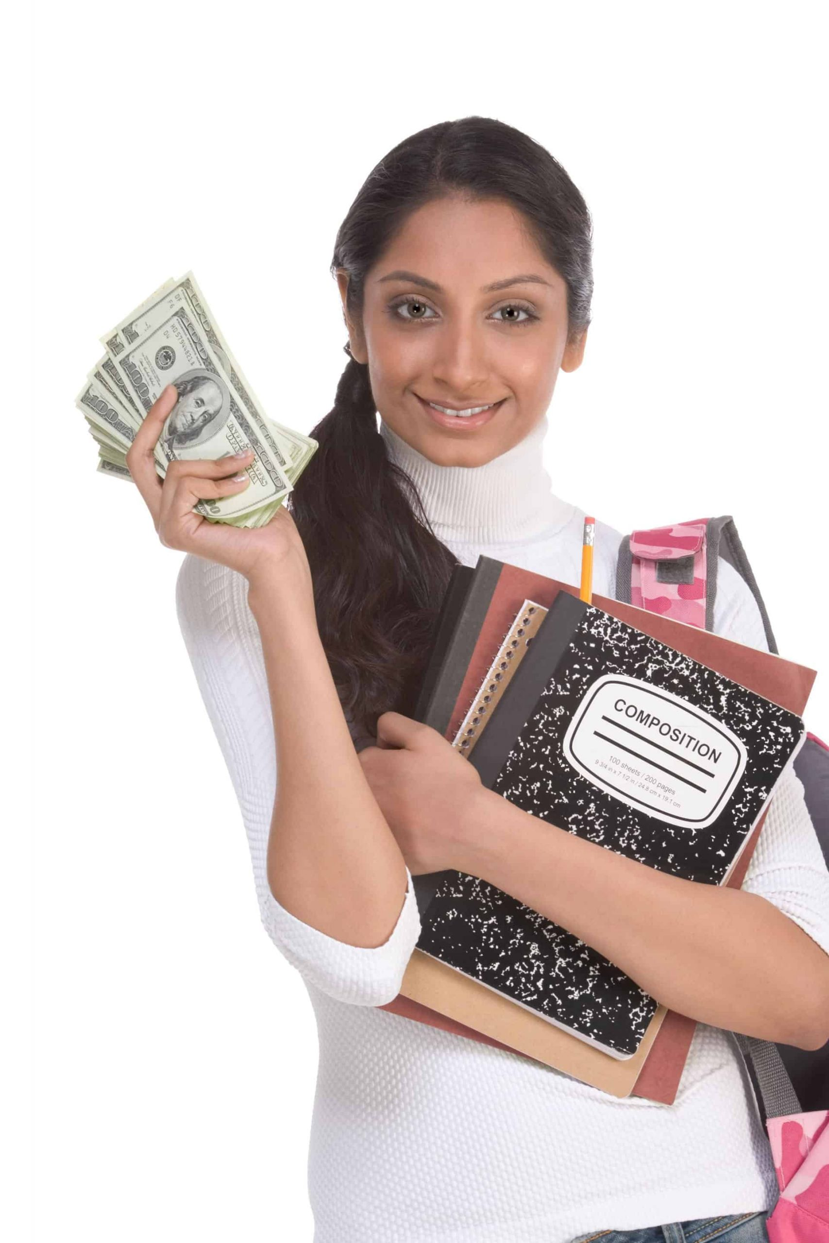 Woman Models Money From Savings On Tax Filing