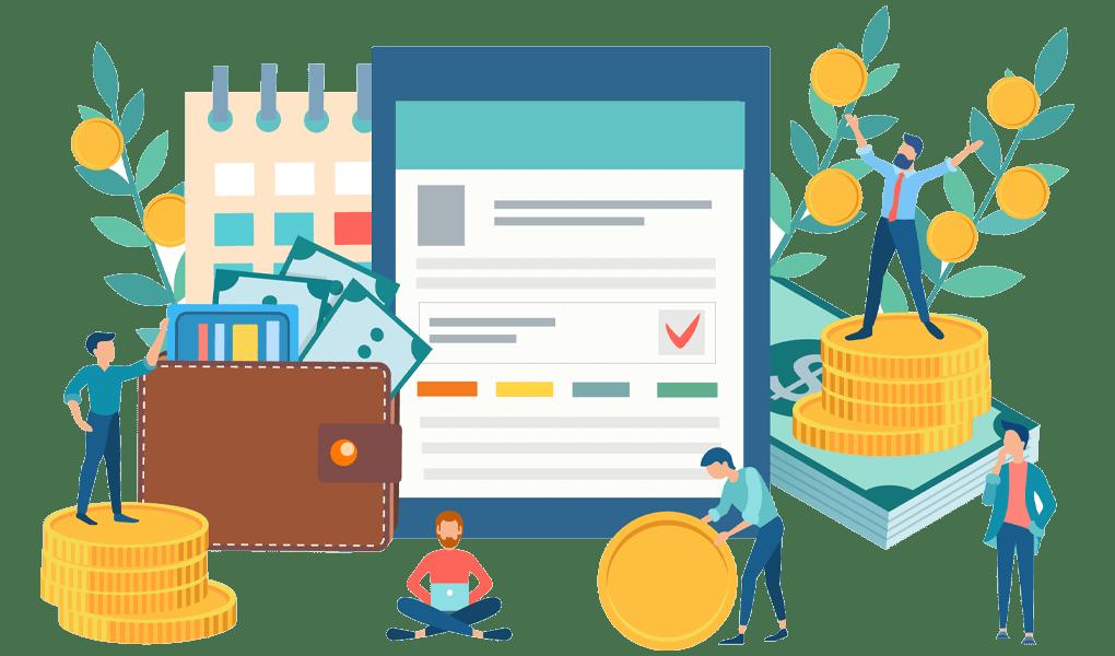 business-account-solutions-vector-art