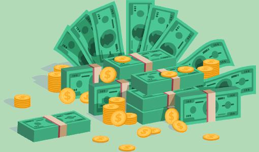 flat-art-money-coins